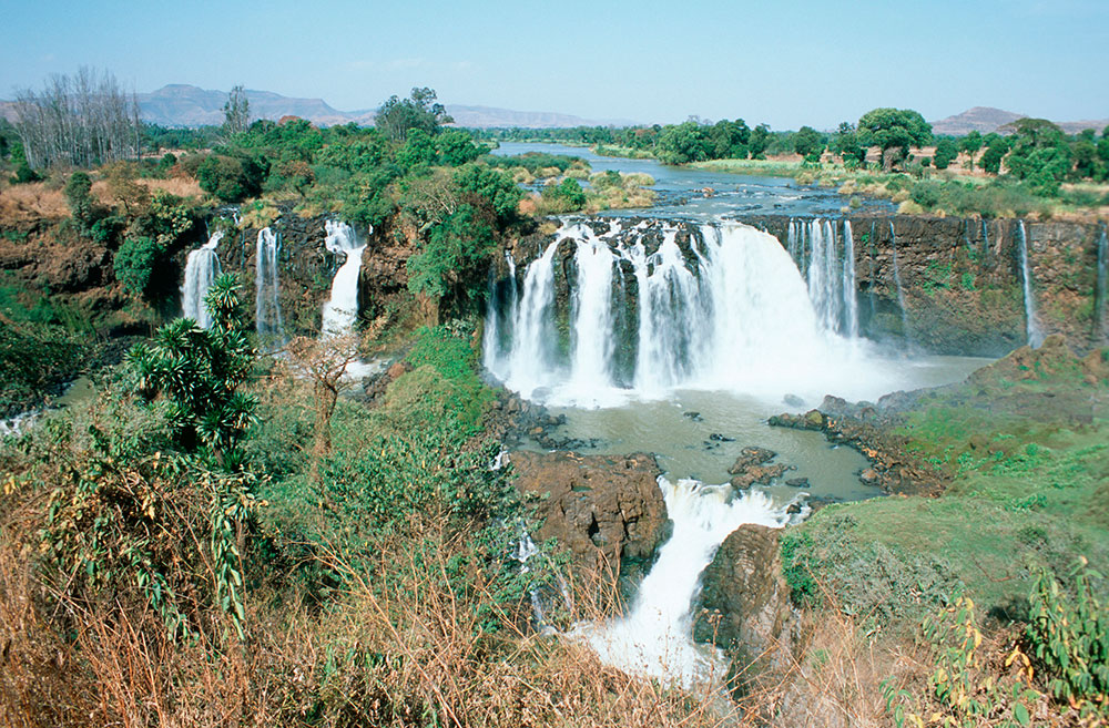waterfall in Ethiopia