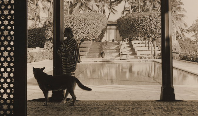 Island life: Duke relished the relaxed pace and natural beauty at Shangri La, the Honolulu estate that she had designed and built beginning in 1937, which she filled with Islamic art and architecture acquired during from her travels throughout Persia.