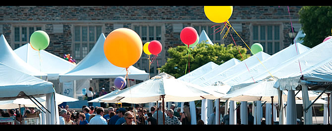 Wish you were here: Thousands converged on campus for picture-perfect Reunions Weekend. Photo by Duke Photography