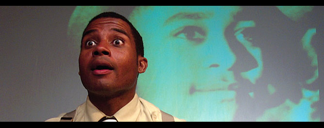 Acting the part: Wiley in a scene from Dar He: The Story of Emmett Till. Courtesy Stephen Barefoot