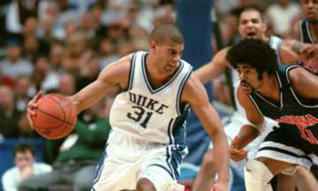Battier battles down court.