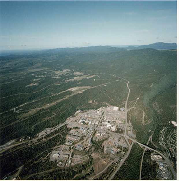 Nuclear nursery: LANL complex nestles in New Mexico's Jemez Mountains.