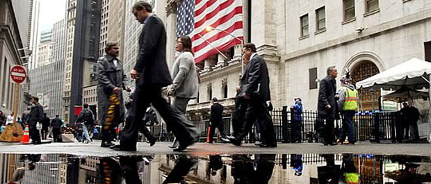New York Stock Exchange, November 6, 2008. [Spencer Platt/Getty Images]