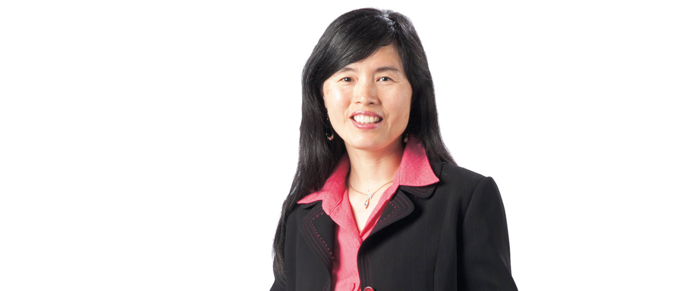 Haiyan Gao is the chair of Duke's physics department.