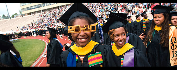 All smiles: Iyanna Atwell looks to the future—through 2010 lenses—during graduation ceremonies. Les Todd