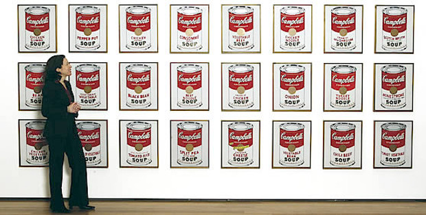 MoMA moment: Rorschach with Warhol's Campbell Soup Cans, 1962. Chris Hildreth/