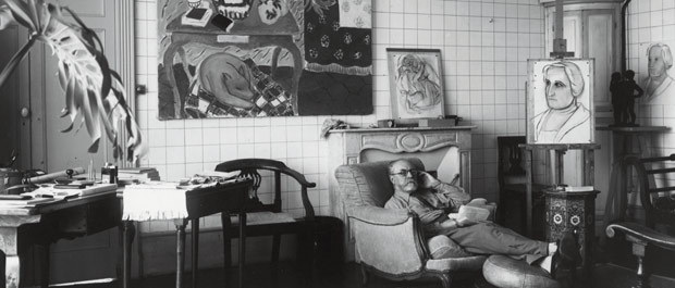 Modern master: Matisse in his apartment at the Place Charles-Felix in Nice, 1934. Photo courtesy of the Henri Matisse Archive.