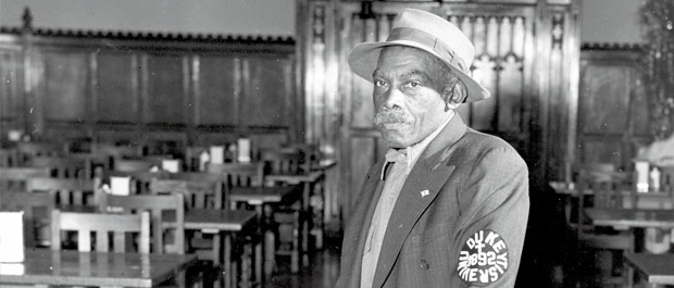 Sheriff of the dining halls: Like his father, George-Frank Wall worked at Duke for more than sixty years. [Courtesy University Archives]