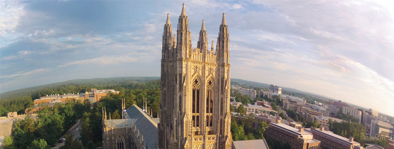 aeril view of duke chapel