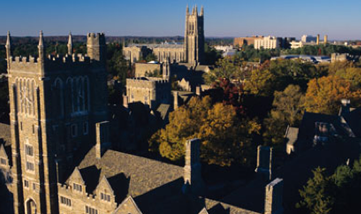 aerial view of the Duke chapel