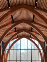 duke arches inside the karsh alumni center