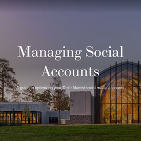 Learn how to manage a social media account for your DAA group