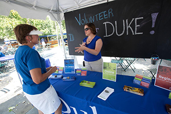 volunteering with duke schools