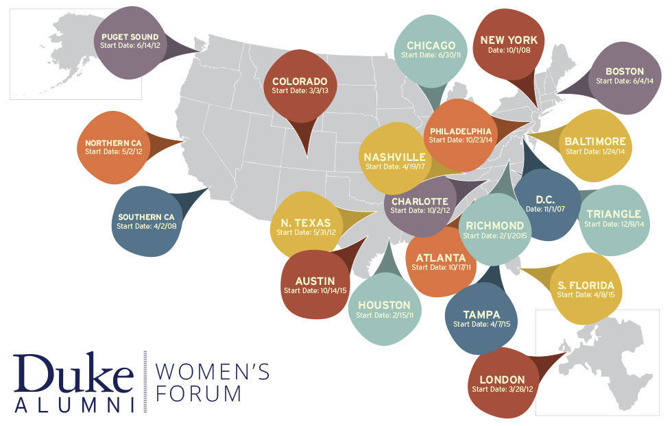 map of all women's forum events